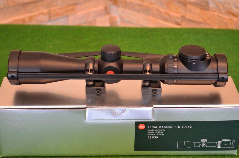 Leica Zielfernrohr Mit Entfernungsmesser : Leica zielfernrohr magnus i mit schiene zielfernrohre